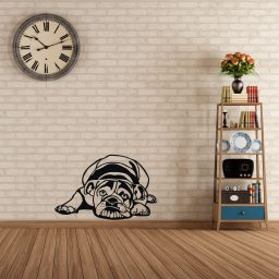 Bulldog Vinyl Wall Decal Pet Shop Decoration