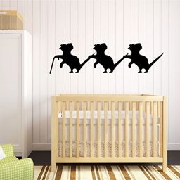 Three Blind Mice Wall Decal, Nursery Rhyme