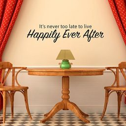It's Never Too Late To Live Happily Ever After Fairy Tale Story Vinyl Wall Decal Home Decor