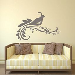 Quail Bird on a Branch Vinyl Wall Decal