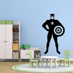 Captain America Wall Decal, Marvel Comics Superhero Figure