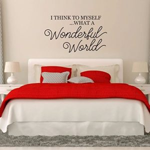 I Think To Myself...What A Wonderful World Vinyl Wall Decoration for Home Decor, Louie Armstrong Song
