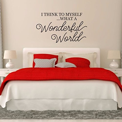 I Think To Myself...What A Wonderful World Vinyl Wall Decoration for ...