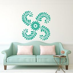Flower Wallpaper Vinyl Wall Decals Home Decor