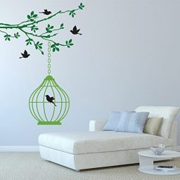 Birds Wall Decals Vinyl Sticker Nature Theme Home Decor