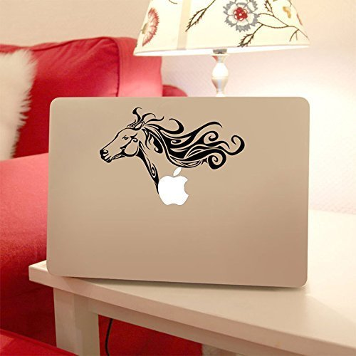 Horse Head Apple Macbook Laptop Decal, Horse Animal Vinyl Design