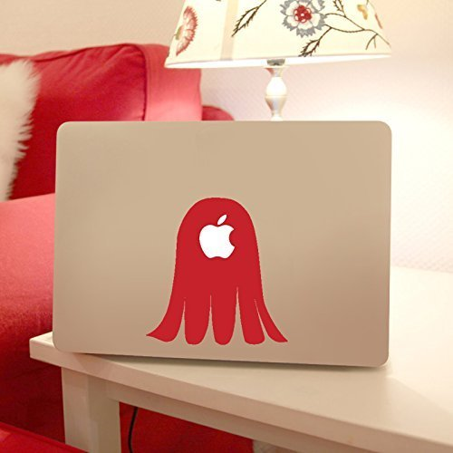 Ghost Body Apple Macbook Laptop Decal, Ghost Vinyl Design