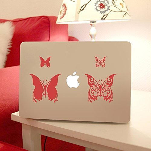 Butterflies Apple Macbook Laptop Decal, Butterflies Vinyl Design