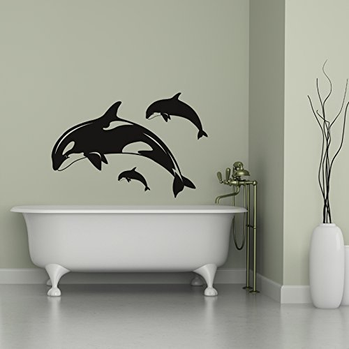 Orca Wall Decals Killer Whales Vinyl Stickers
