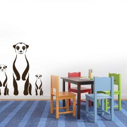 Safari Animal Wall Decals Meerkats Vinyl Stickers