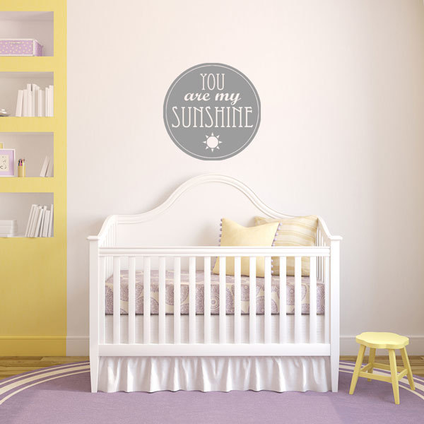 You Are My Sunshine Vinyl Wall Decal Decorative Saying