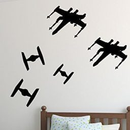 Star Wars Wall Decals TIE Fighters Versus X-Wing Starfighter Spaceships Sky Battle