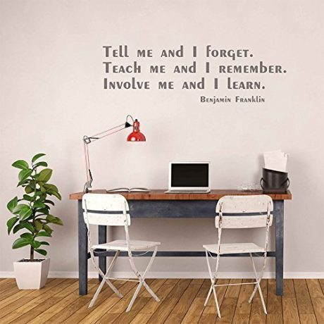 Benjamin Franklin Quote Wall Decal - Involve Me