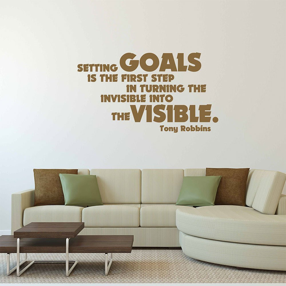 Setting Goals. - Tony Robbins Quote
