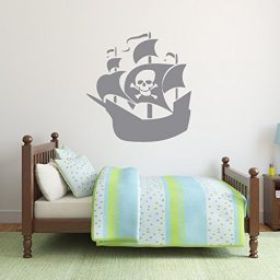 Pirate Ship Wall Decal Vinyl Sticker for Kids