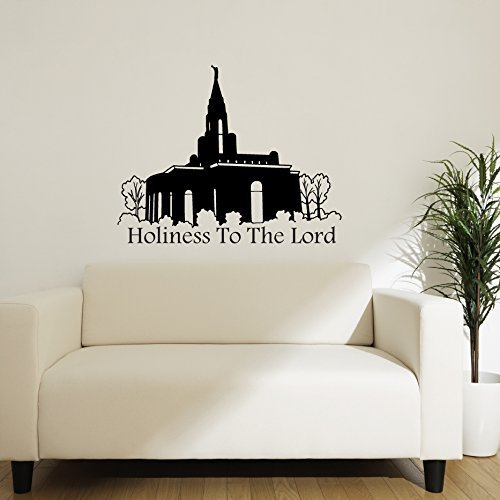 LDS Temple Vinyl Wall Decal, Mormon Temple Decoration