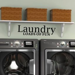 Laundry Room Vinyl Wall Decal - Laundry Loads of Fun Vinyl Sticker Home Decor