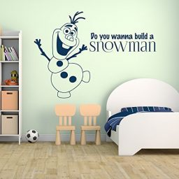 "Frozen Wall Decals Olaf ""Do You Wanna Build A Snowman"" Vinyl Decor"