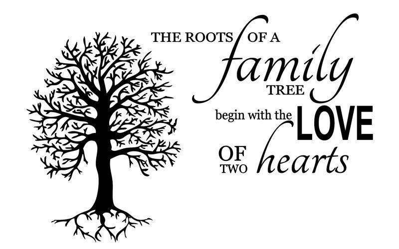Family Tree Vinyl Wall Decal The Roots Of A Family Tree