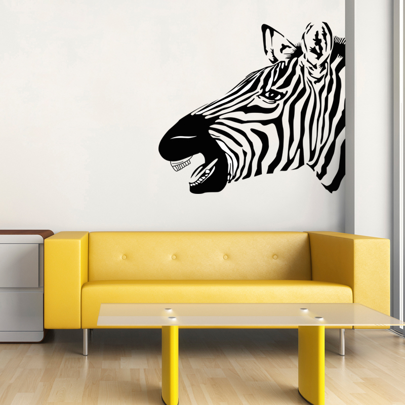 Zebra Wall Decal Vinyl Sticker Safari Decor