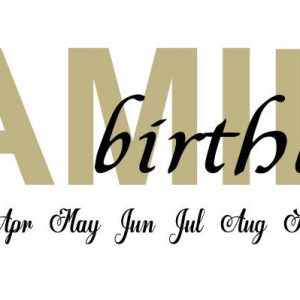 Family Birthdays Board Vinyl - As Featured on The Thrifty Couple
