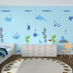 Ocean Themed Wall Decals for Decorating Kids Bedrooms, Playrooms