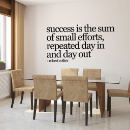 Motivational Success Quote Vinyl Wall Decal - Robert Collier: Success Is The Sum Of Small Efforts