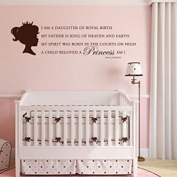 "Princess Vinyl Wall Decals ""I Am A Daughter Of Royal Birth"""