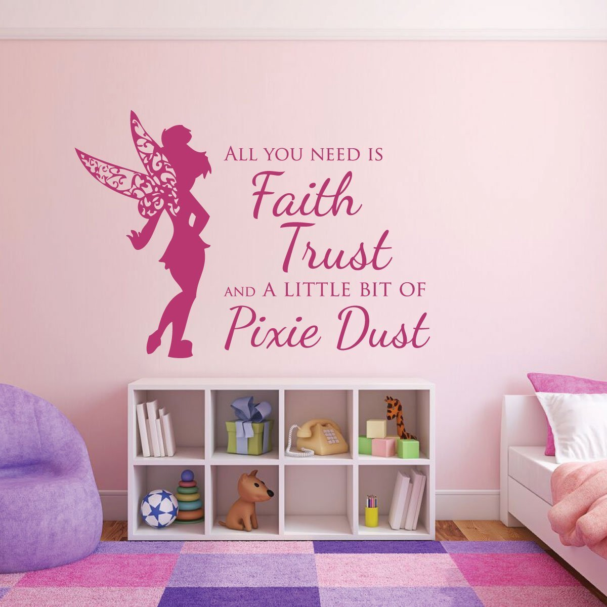 "All You Need is Faith, Trust, and a Little Bit of Pixie Dust"", Kids Room Decor"