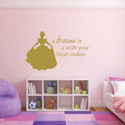 "Disney Princess Wall Decals - Cinderella ""A Dream is a Wish Your Heart Makes."""