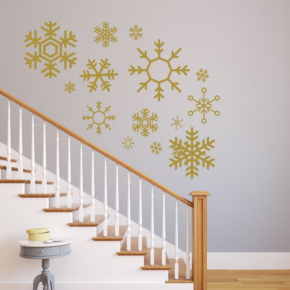 Snowflake Wall Decals   Christmas, Winter Vinyl Home Decor   Available In  White, ...