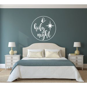Christmas Decoration Vinyl Decal for Walls, Windows, Crafts, Christmas Gifts - O Holy Night Decor