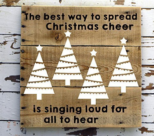 Christmas Tree Decor Vinyl Wall Decals for Winter, Holiday Season - Star-Topped, Light-Strung Christmas Trees