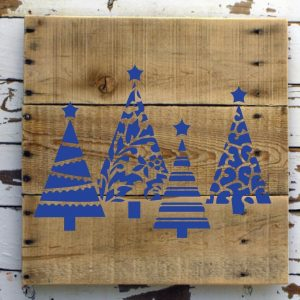 Christmas Tree Decals - Holiday Vinyl Stickers for Walls, Windows, Tiles, Flat Surfaces - Festive Decor for Home or Office