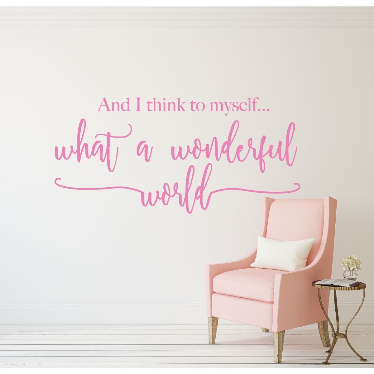 Song Lyrics What a Wonderful World Louis Armstrong Quote Wall Decals