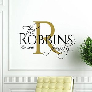 Family Name Wall Decal Vinyl Home Decor - Personalized Living Room Decoration -