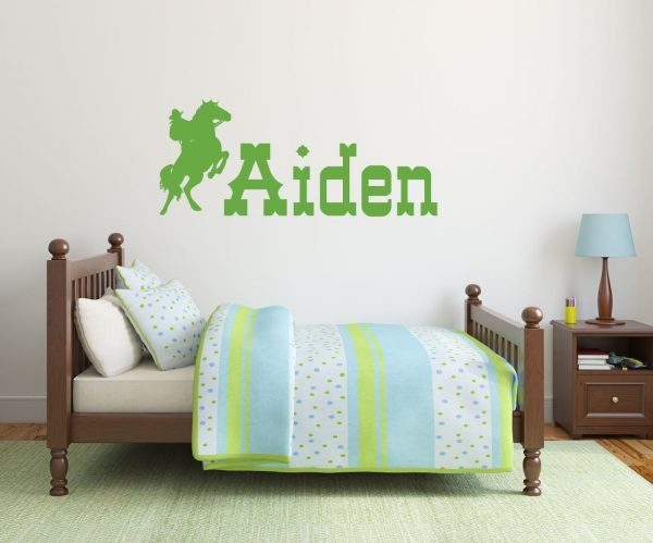 Cowboy Wall Decals - Personalized Boys Name Rodeo Cowboy