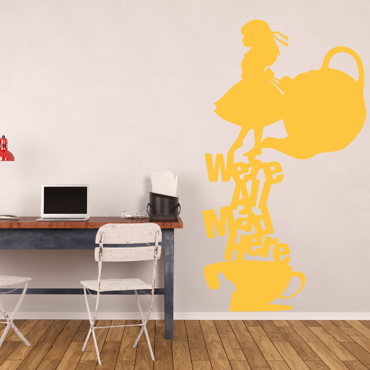 Alice In Wonderland Wall Decal Tea Party