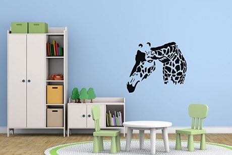 Giraffe Wall Decal Home Decor - Safari Vinyl Sticker - Zoo Animal Decoration