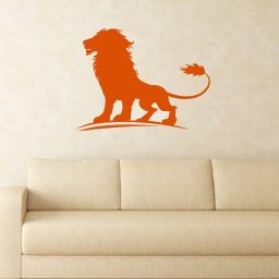 Lion Vinyl Decal, King of the Jungle Wall Art Sticker for Kids Room,