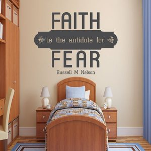 "Faith is The Antidote for Fear"" - Christian Religious Sticker"