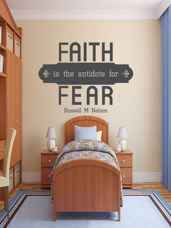 """Faith is The Antidote for Fear"""" - Christian Religious Sticker"""