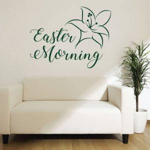 Easter Lily - Easter Morning Wall Art - Christian Wall Decals for your Home