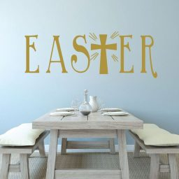 Easter Cross - The Cross of Christ in Easter - Christian Vinyl Wall Art