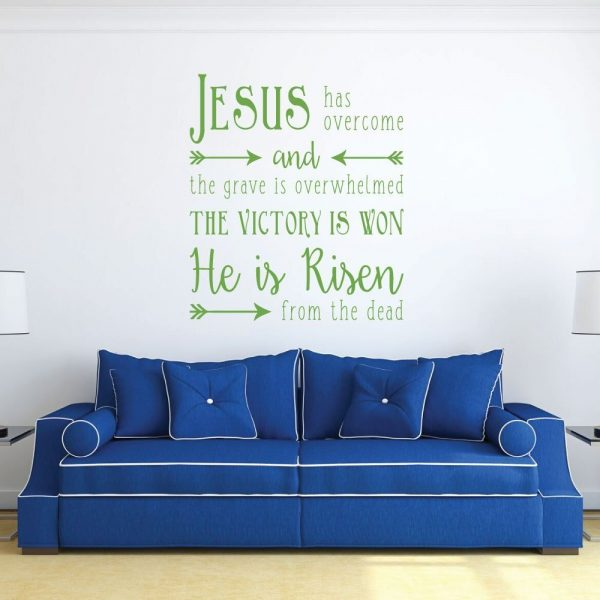 "Christian Wall Decals for Easter, ""He is Risen"""