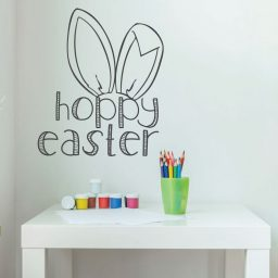 Easter Bunny Decorations, Christian Vinyl Wall Art, Easter Fun Wall Decor