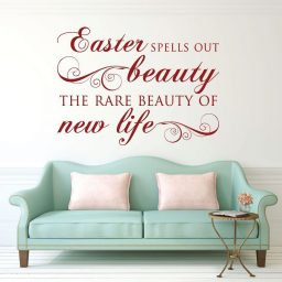 Easter Decorations, Vinyl Wall Decals, Religious Home Decor for Church