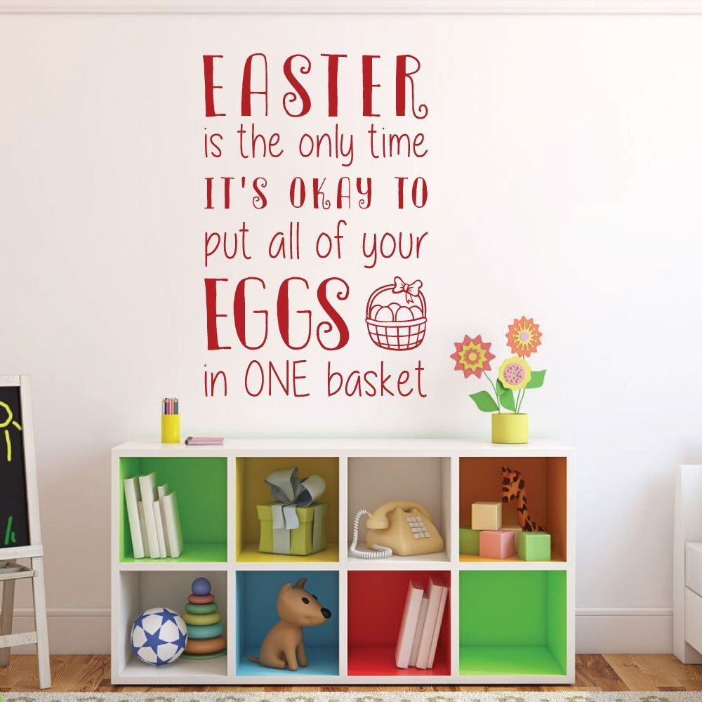 Easter Home Decor, Funny Easter Vinyl Wall Decal, Easter