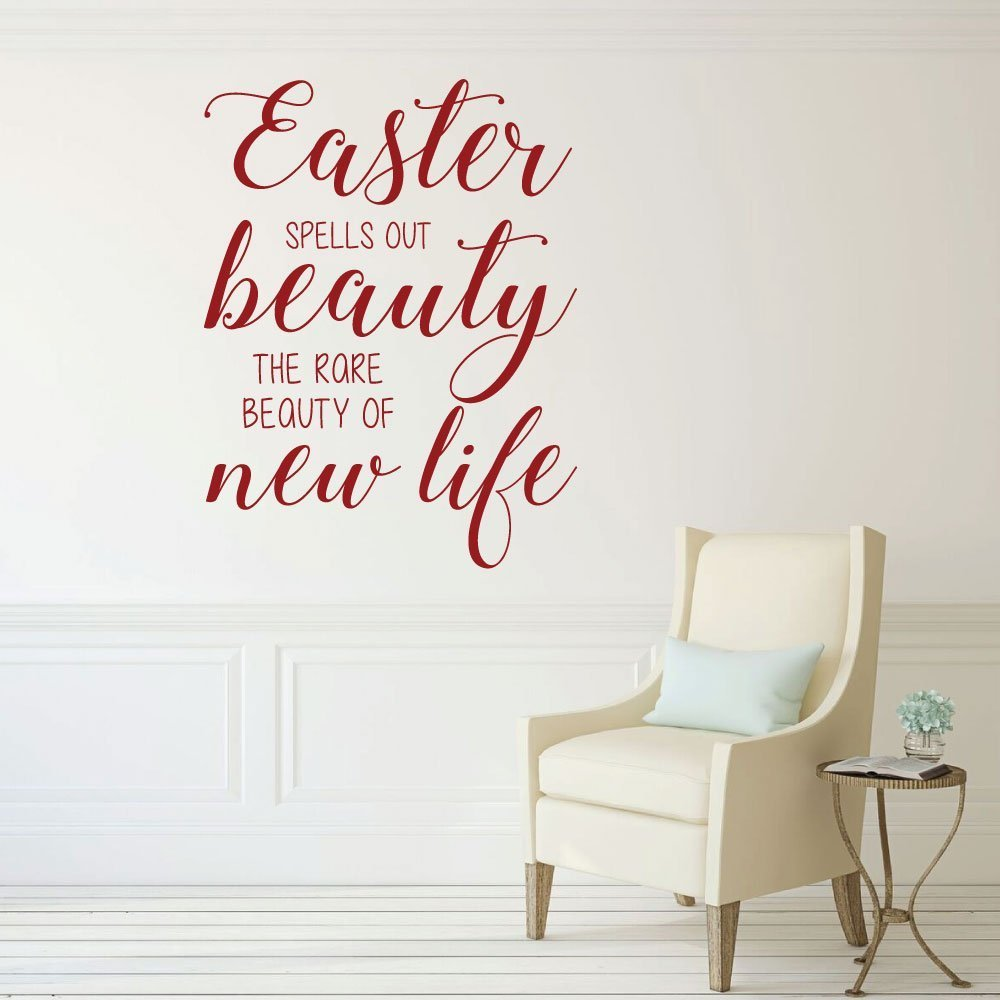 Blessings Home Decor: Easter Blessings, Vinyl Wall Decals, Religious Home Decor
