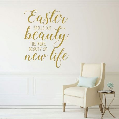 Easter Blessings, Vinyl Wall Decals, Religious Home Decor